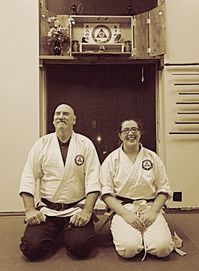 Sensei Bear and Yonkyu Kestrel Fitzgerald