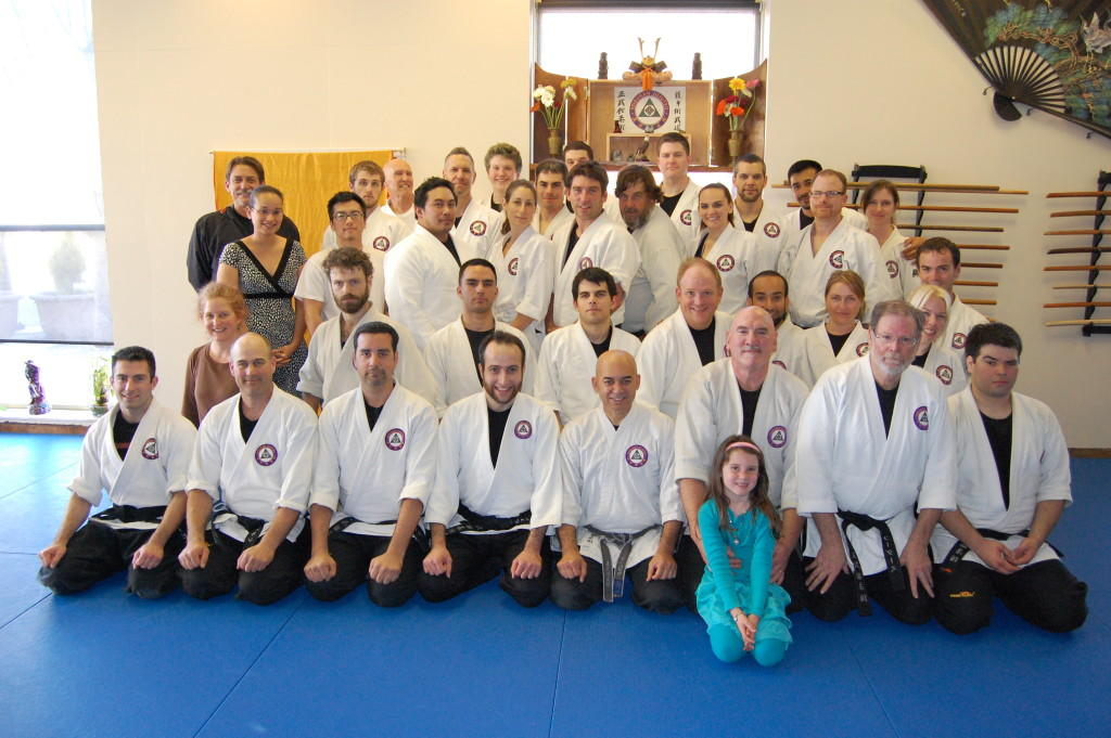 Sensei Bear Roberts demonstration group photo